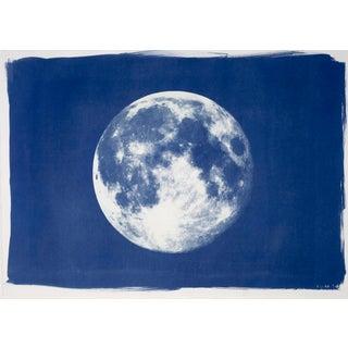 Full Moon Cyanotype Print