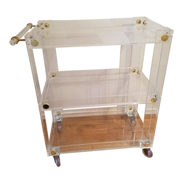 Custom Lucite Bar Cart - Image 1 of 4