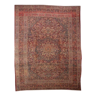 "Antique Khorassan Medallion Rug - 11'9"" X 16'4"""