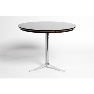 Round Table with Metal Legs and New Veneer Top