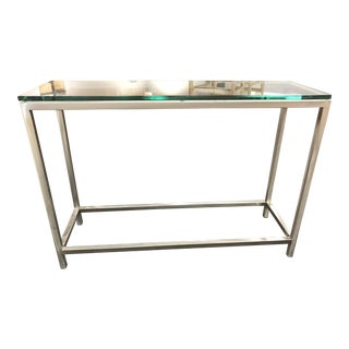Glass & Metal Rectangular Console Table