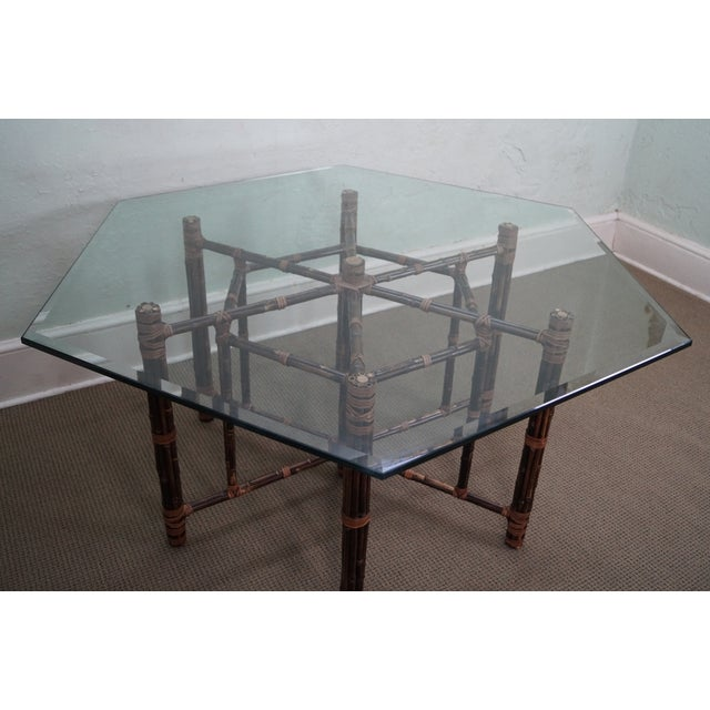 McGuire Rattan Dining Table - Image 3 of 10