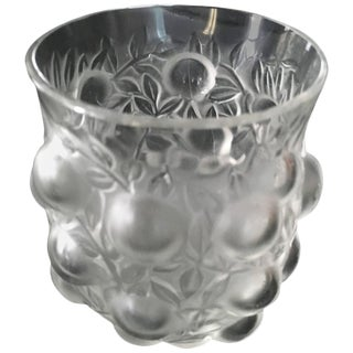 Signed R. Lalique Bud Vase