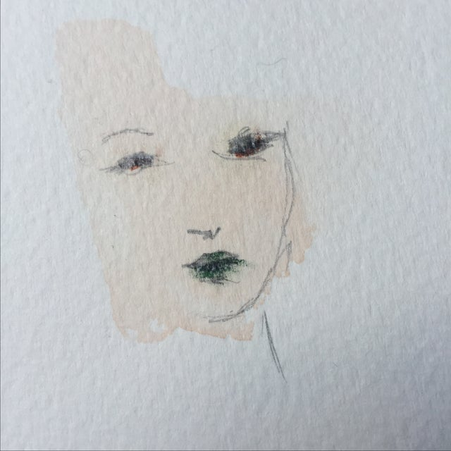 Minimal Watercolor Face Painting - Image 3 of 4
