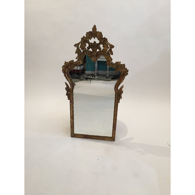 Antique Italian Gothic Gold Leaf Mirror - Image 10 of 11