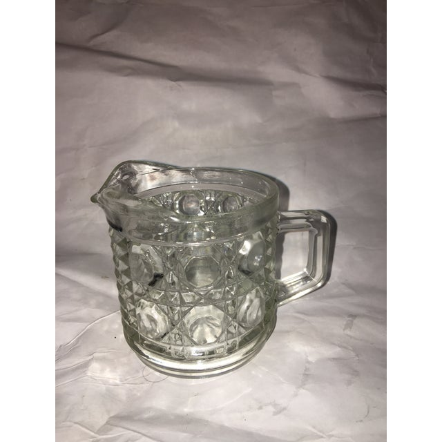 Antique Hobnail Glass Pitcher & Creamer - A Pair - Image 7 of 10