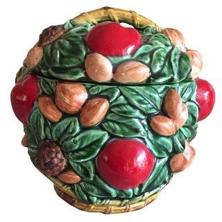 Inarco Ceramic Fruit Basket Cookie Jar