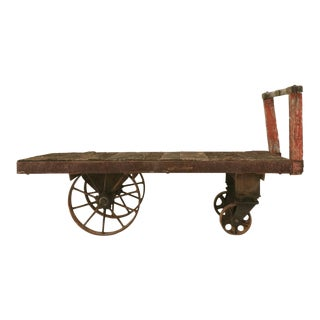 c.1900 Original French Industrial Railroad Cart