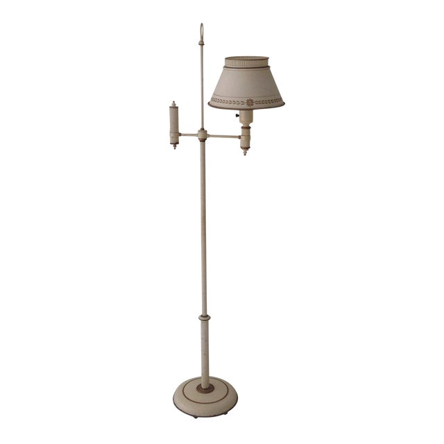 Off-White Tole Floor Lamp - Image 1 of 11