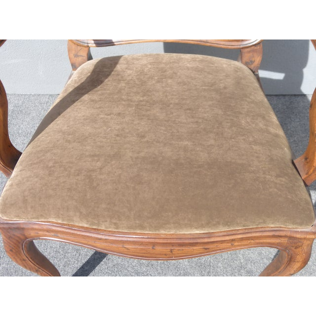 French Henredon Mohair Dining Chairs - Set of 6 - Image 7 of 11