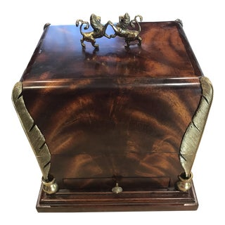 Maitland-Smith Wood & Brass Box