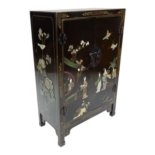 Chinese Chinoiserie Hand Painted Cabinet