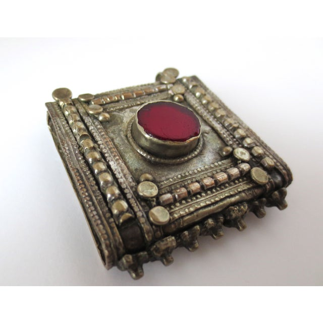Image of Vintage Pendant with Red Gemstone