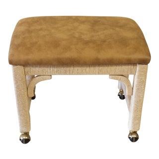 Lexington Henry Link Wicker Footstool/ Ottoman
