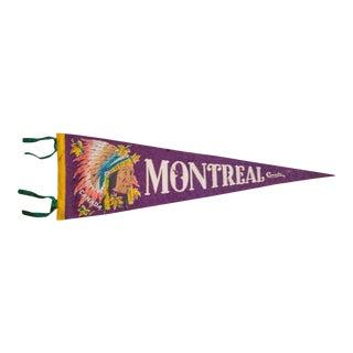 Montreal Canada Felt Flag