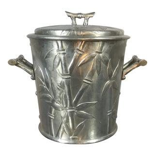 Aluminum Bamboo Ice Bucket