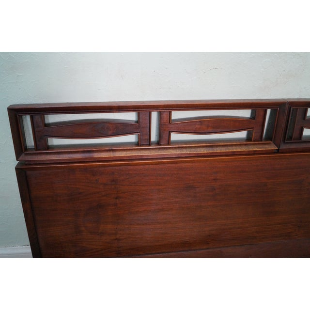 Mid Century Modern Walnut King Size Headboard - Image 8 of 10