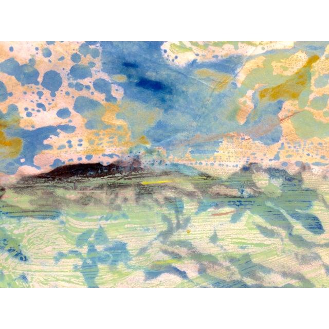 """Blue Mist"" Handmade Ink on Paper Monotype, 2016 - Image 4 of 4"
