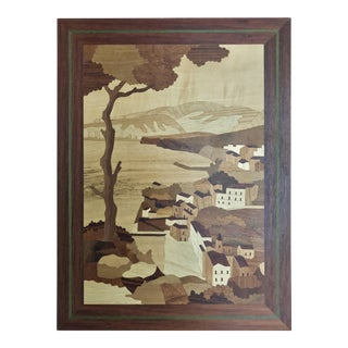 Italian Hand Made Inlaid Wooden Wall Art