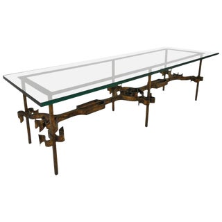 Decorative Iron & Glass Coffee Table
