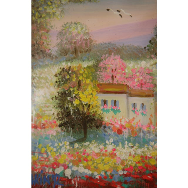 Gold Framed Painting: Little House in a Garden - Image 3 of 4
