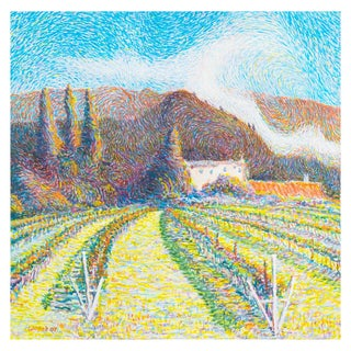 """""""Provençal Vineyard"""" Oil Landscape by Wilfred"""