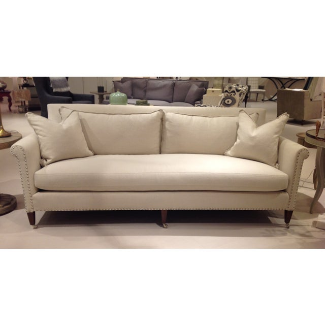 Lillian August Paris Linen Sofa - Image 2 of 9