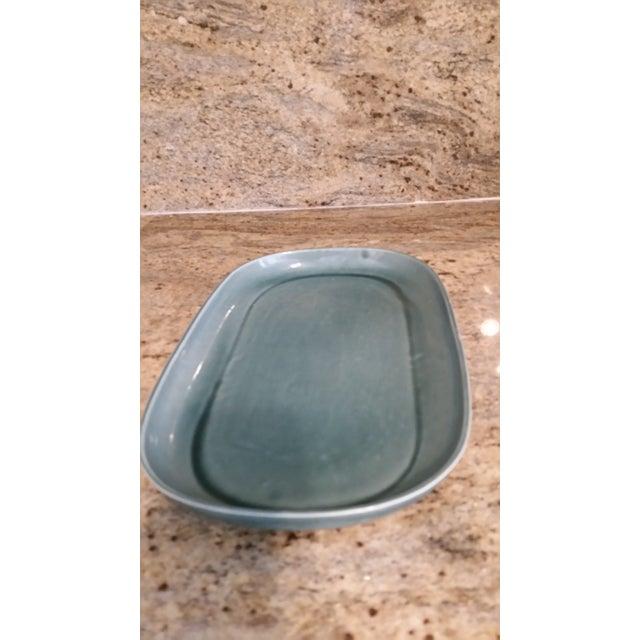 Russel Wright Mid-Century Green Platter - Image 3 of 4