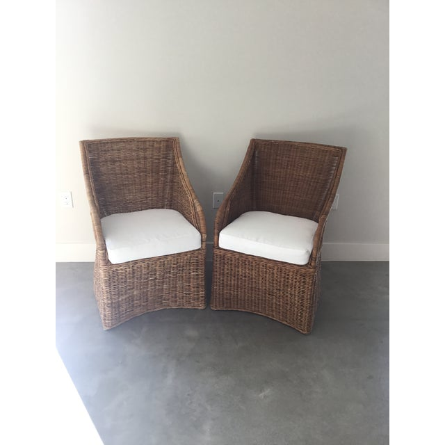 Williams-Sonoma Farallon Chairs - A Pair - Image 6 of 7