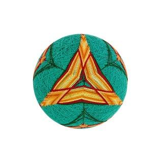 Temari Ball - Sunrise Spike Triangles on Teal