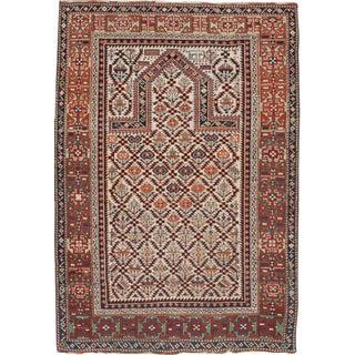 """Antique Caucasian Shirvan Prayer Rug - 3'10""""x 5'"""