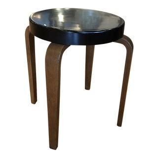 Alvar Aalto for Thonet Black Bakelite Seat Bentwood Stool