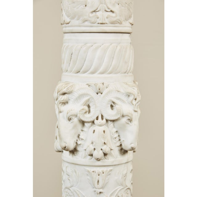19th Century Italian Carved Marble Column - Image 8 of 9