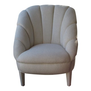 Vintage Art Deco Upholstered Club Chair