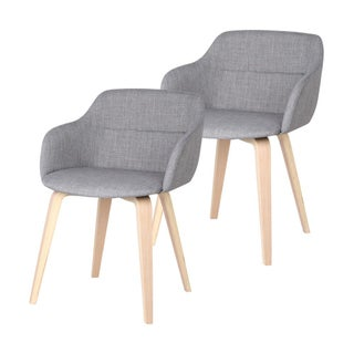 Mid-Century Upholstered Accent Chair - A Pair