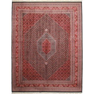 Persian Bijar Style Hand Knotted Wool Rug
