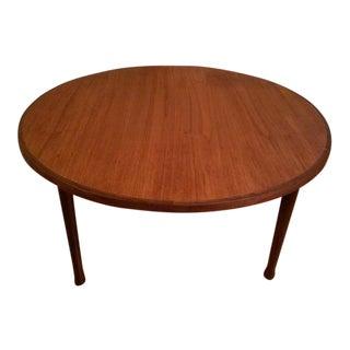 Mid-Century Modern Round Teak Coffee Table