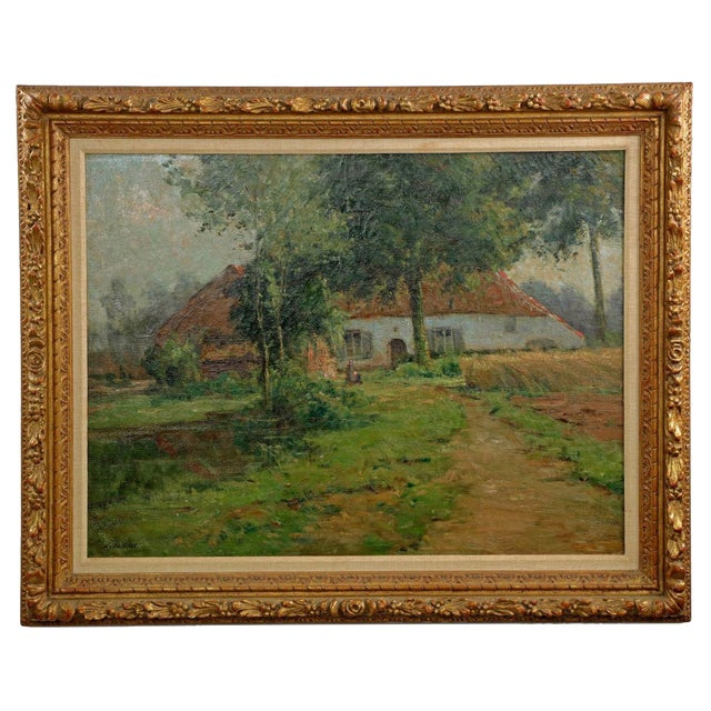 Image of Lake Cottage Painting by Léon Riket