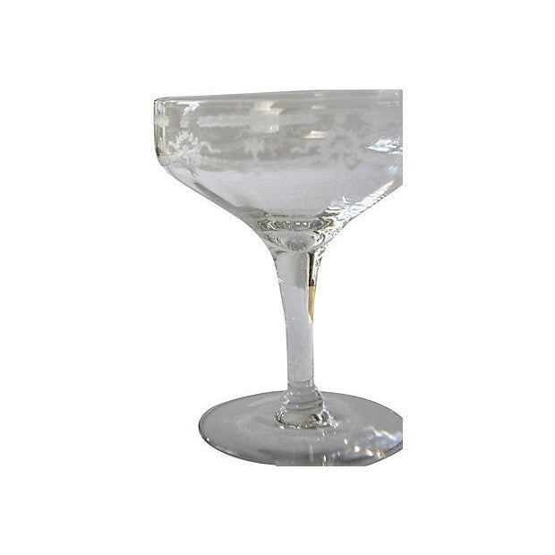 Etched Champagne Coupes - Set of 4 - Image 2 of 3