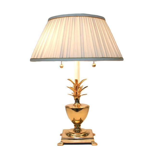 Hollywood Regency Brass Pineapple Desk Lamp - Image 1 of 10