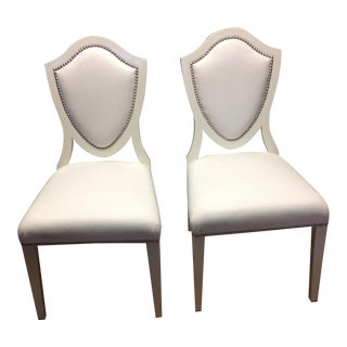 Barclay Butera Whistler Lacquer Side Chairs Side Chairs - A Pair
