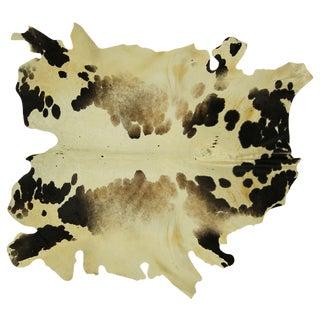"Cowhide White and Black Organic Rug -  6'4"" x 6'11"
