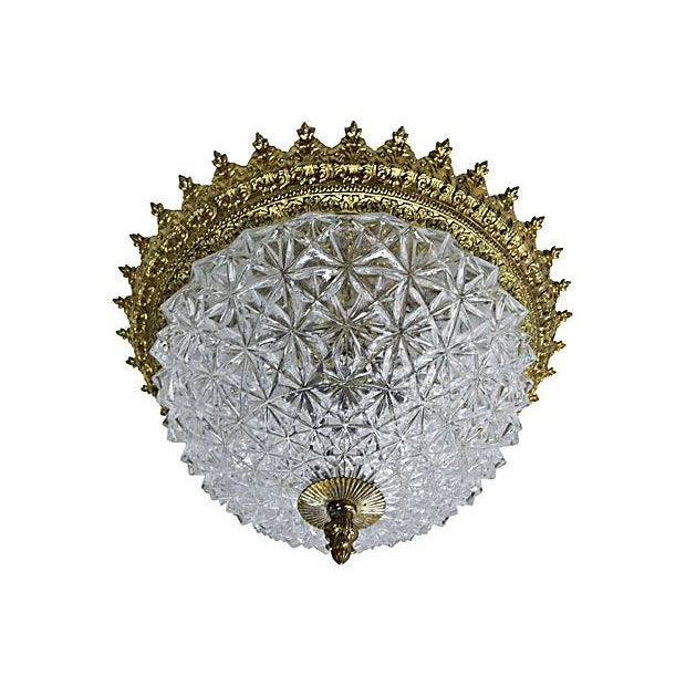 Ceiling Flush Crystal Dome Lamp - Image 2 of 4