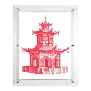 Mitchell Black Home Acrylic Framed Pagoda Art Print