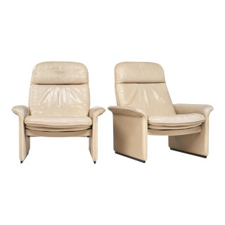 De Sede Cream Leather Armchairs
