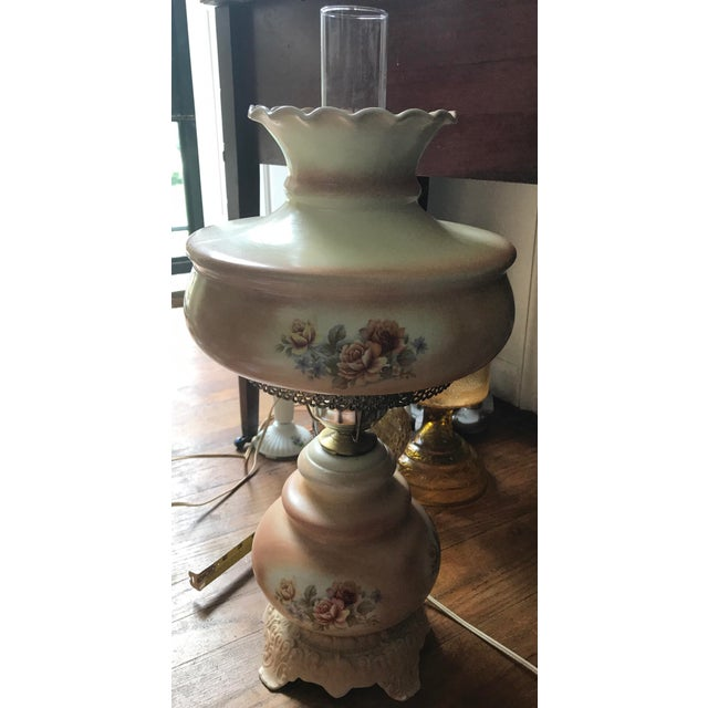 Vintage Hurricane Parlor Lamp - Image 2 of 6