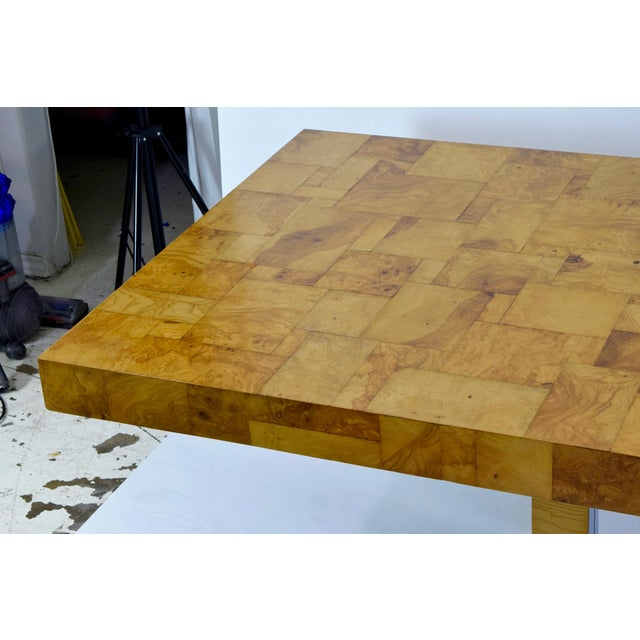 Paul Evans Burl Wood and Chrome Cityscape Dining Table - Image 6 of 10