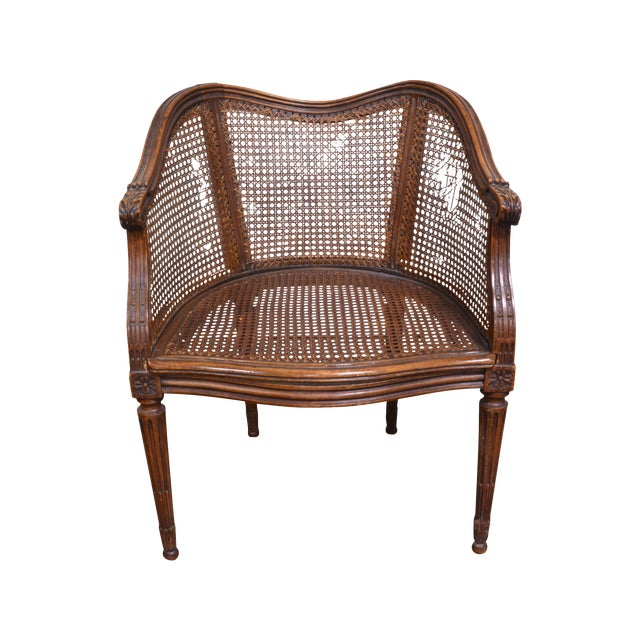 Vintage French Louis XV Caned Chair - Image 1 of 6
