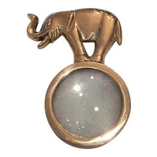 Brass Elephant Magnifying Glass Desk Accessory