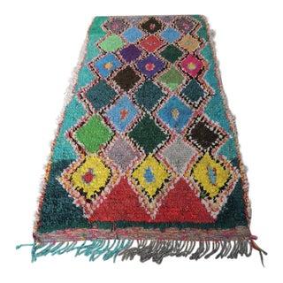 Vintage Moroccan Boucherouite Rug - 3′6″ × 6′